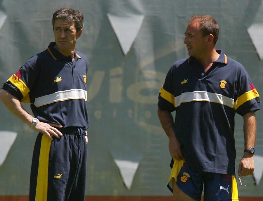 Toni Cortés con Pichi Alonso en la Selección de Fútbol de Cataluña. Etapa profesional